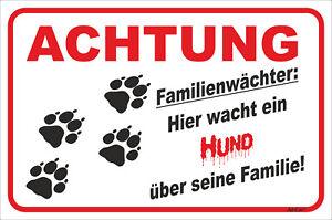 Tatzen Unparteiisch Schild Vorsicht Familienwächter 15x20-40x60cm Hund