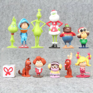 The-Grinch-How-To-Stole-Christmas-Xmas-Gift-12-PCS-Action-Figure-Kids-Gift-Toys