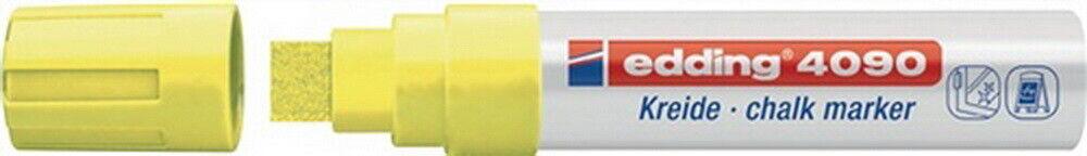 Kreidemarker edding 4090 neongelb Keilspitze Strichbreite ca. 4-15mm, 5 St. | Vorzüglich  | Online-Exportgeschäft  | Abgabepreis