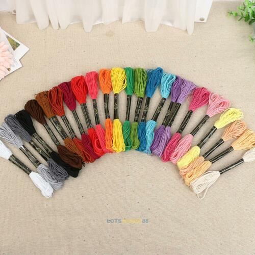 NEW 24 Colors Embroidery Thread Hand Cross Stitch Floss Sewing Skeins Craft DIY