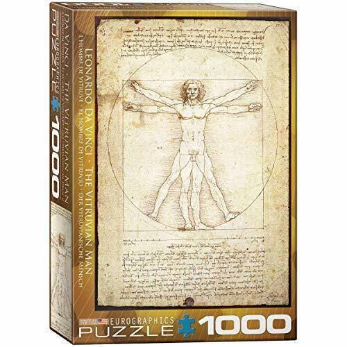 Rompecabezas De 1000 piezas de Gráficos EUR Vitruvian Man 6000-5098F S