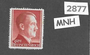 Adolph Hitler stamp / MNH 1942 - 1944 / 3RM Third Reich / WWII Germany Sc526a