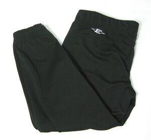 Easton Para Hombre Talla Xl Negro Solido Pantalones Cortos Culotte Pirata Capri De Beisbol Softbol Ebay