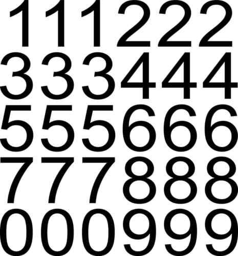 schwarz Ziffern Zahl 70 Klebezahlen wetterfest 6 cm 60mm