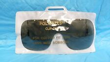 VTG CLEARVIEW POLARIZED CLIP ON CUSTOM FIT TRIMABLE RETRO GLASSES/ SUNGLASS LENS