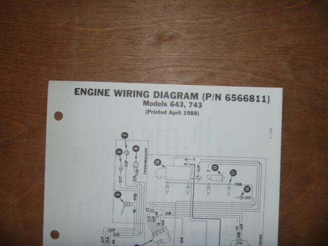 Bobcat 643 743 Skid Steer Engine Electrical Wiring Diagram