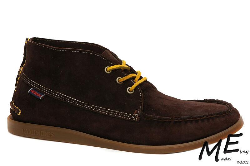 New Sebago CAMPSIDES MID Chukka Pelle Uomo Stivali Size 11.5 Brown