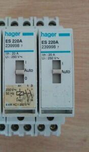 CONTACTEUR COMMANDE MANUELLE HAGER ES 220A ref 239998 20A 230V