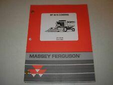 Massey Ferguson Mf 8570 Combine Parts Manual Issued 1995