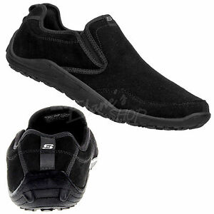75544a9a075 Skechers 51224 Black Freedom BOLT Suede Slip-on Sneakers Loafer ...