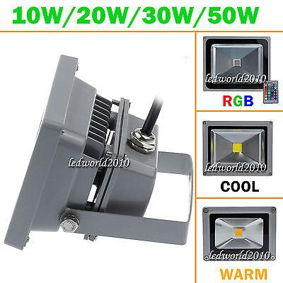 10W IP65 RGB Waterproof LED Spot Flood Wall Wash Light + Remote Control Outdoor