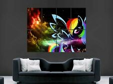 MY LITTLE PONY RAINBOW   HUGE LARGE WALL ART POSTER PICTURE