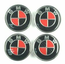 Bmw wheel center caps set of4 Red Black Real Carbon Fiber