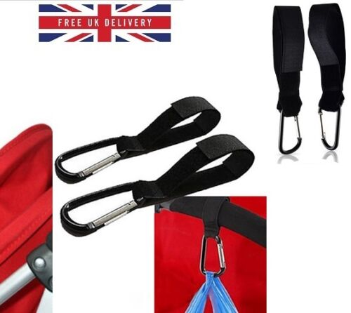 2 X Universal Buggy Pram Baby Pushchair Stroller Shopping Bag Clip Hook SD