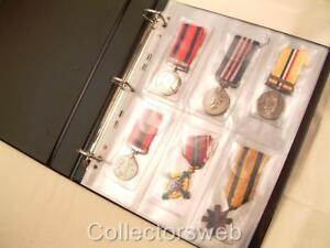 10 X Medaille 6 Taschen Plastik Ärmel Album Refil Seiten Display Aufbewahrung