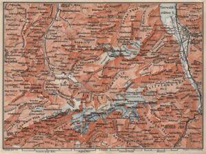 Uri/urner Alps Titlis Blackenstock Sarnen Altorf 1897 Map Art Prints Maps, Atlases & Globes Engelberg Environs