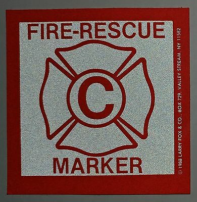 FIRE RESCUE child reflective Window Marker Decal Tot Finder **FREE SHIPPING**