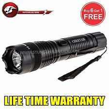 Cheetah Stun Gun ALL Metal  Flash Light 200 MV Rechargeable  CH-51 Black
