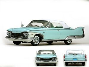 Plymouth-Fury-Closed-Convertible-Turquoise-Cabriolet-Aqua-Brume-Diecast-1-18