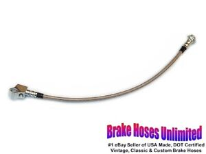 STAINLESS-REAR-BRAKE-HOSE-Ford-Fairlane-Station-Wagon-1967-1968-1969-1970-Drum