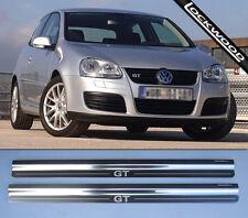 VW Golf GT Mk5 Acero Inoxidable Patada Placas Umbral Protector Trims