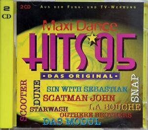Maxi-Dance-Hits-95-Outhere-Brothers-Fun-Factory-La-Bouche-Celvin-Rot-2-CD