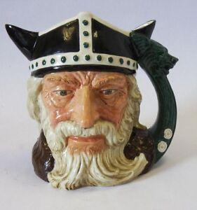 Royal-Doulton-Personaje-la-Jarra-034-las-Viking-034-D6496-Grande-Hecho-en-Inglaterra