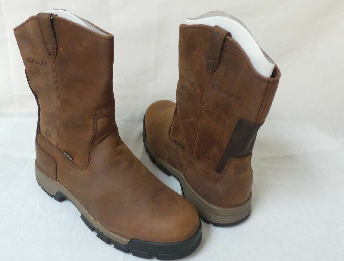 New!! Wolverine Mens Gear Waterproof Composite Toe EH Pull On Boots Style W10152