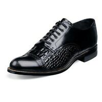 Madison Stacy Adams Mens Shoe Black 00034 Crocodile Print Leather Oxford Lace Up