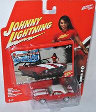American Beauties - 1969 CHEVY CAMARO SS - red/white - 1:64 Johnny Lightning
