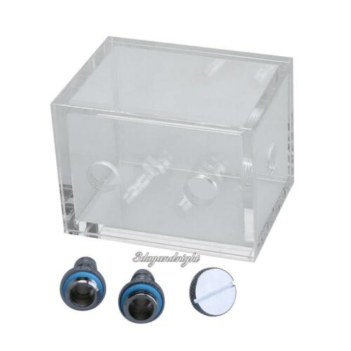 200ml Water Tank for PC Water Cooling System with Fittings Blcok G1//4 Reservoir