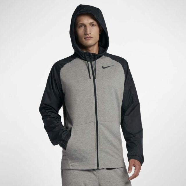 Nike Men's Therma Fit Hoodie Black S M L XL 2XL Zip Athletic