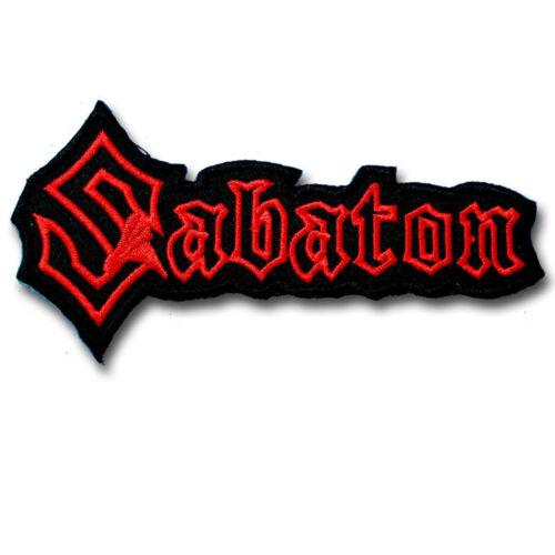 Sabaton patch brodé Power Metal Band appliqué Emblème rock biker rider #4