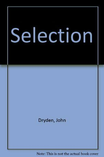 Selection by Dryden, John Paperback Book The Fast Free Shipping