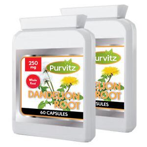Pissenlit-250mg-Totalite-Racine-Herbes-120-Capsules-Detox-Foie-039-Retention-Peau
