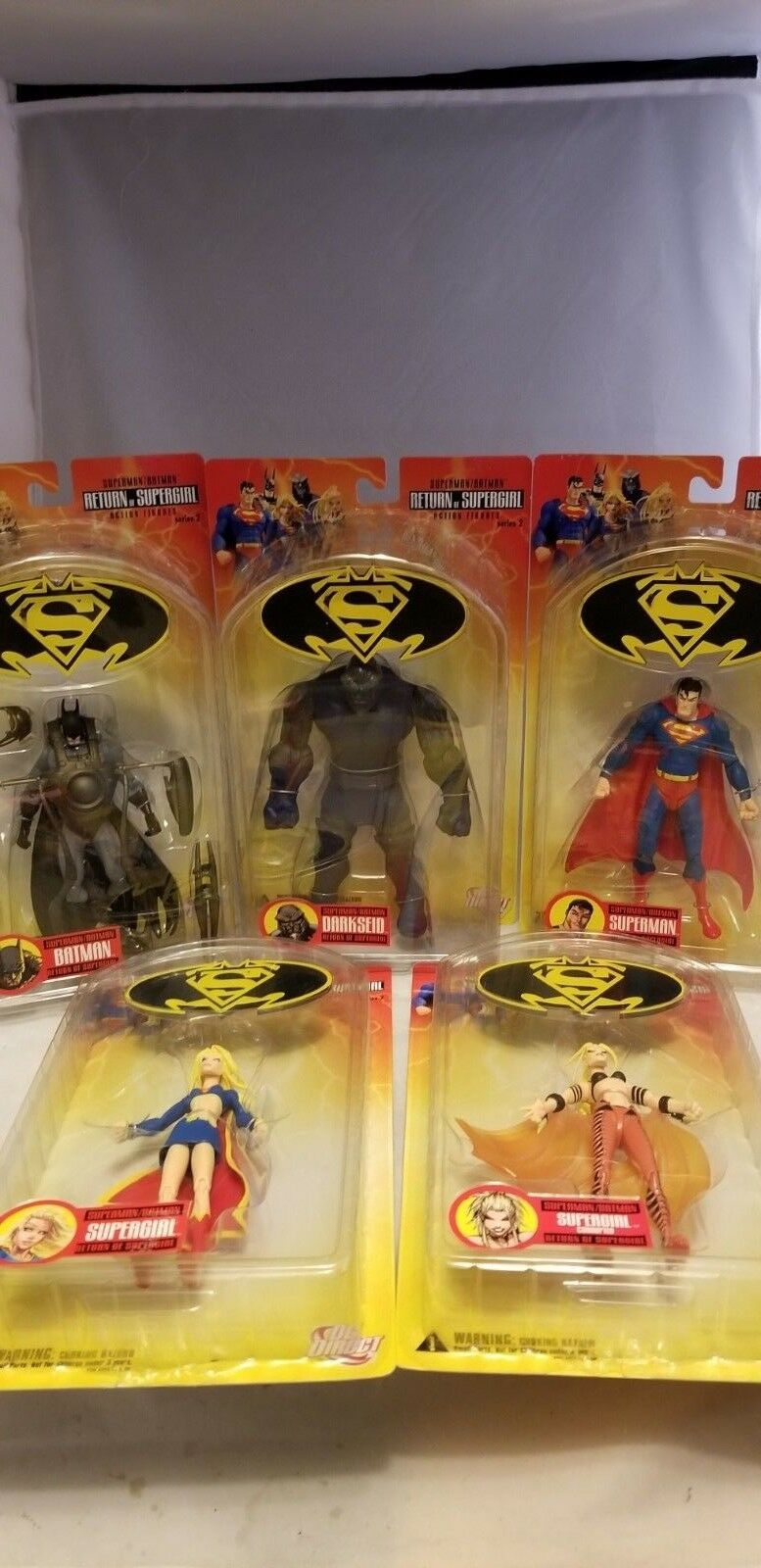 SUPERMAN BATMAN RETURN OF SUPERGIRL SERIES 2 SET OF 5 FIGURES