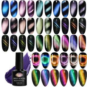 MEET-ACROSS-Holographic-Magnetic-Cat-Eye-Soak-Off-UV-Gel-Nail-Polish-Varnish-7ML