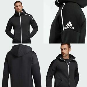 Inhalar Alpinista Brutal  Adidas Para Hombre Chaqueta Sudadera Negra Sudadera De Entrenamiento ZNE  Pista Top Talla XXL | eBay