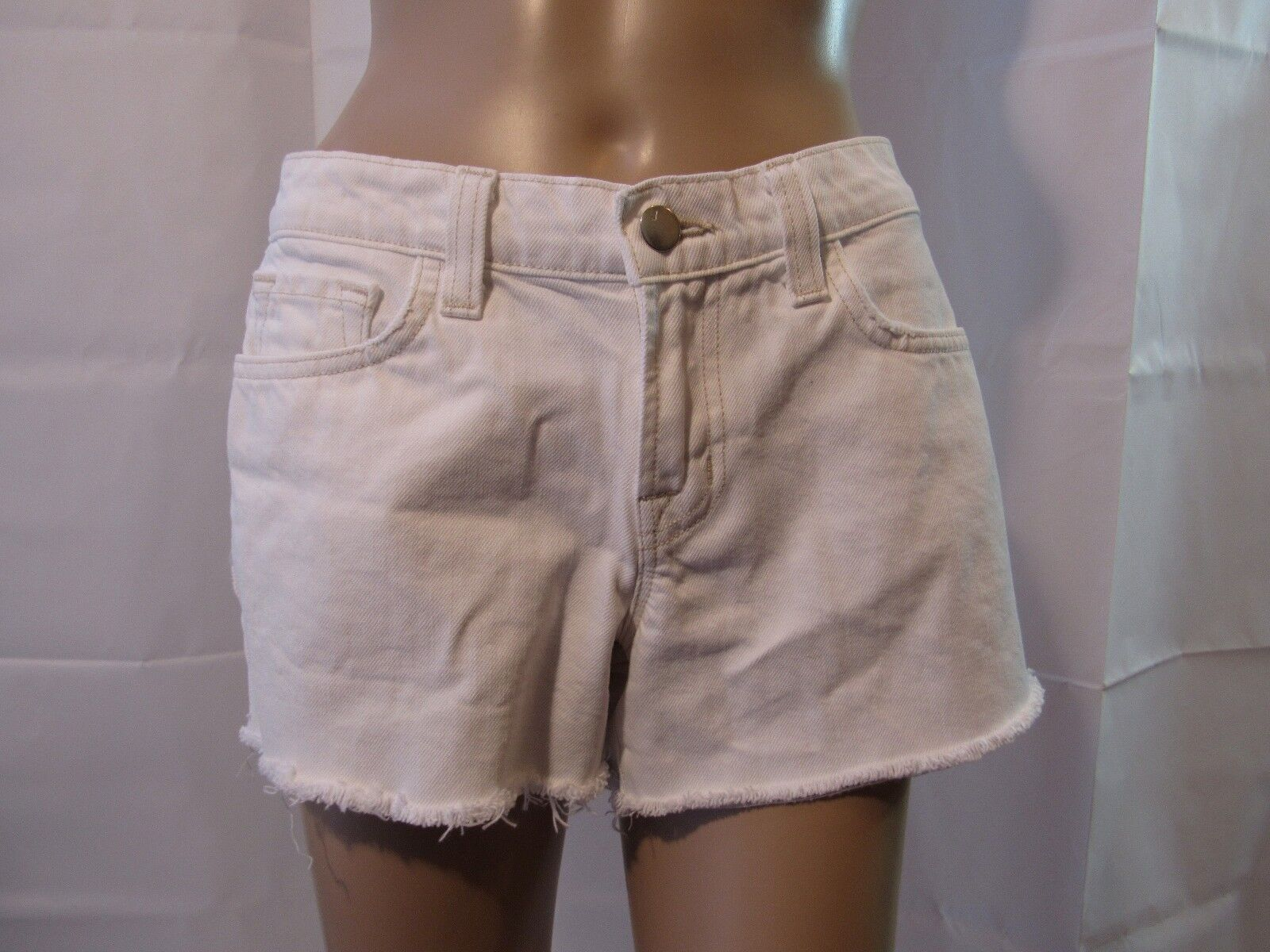 J Brand White Cut-Off Shorts Size 25