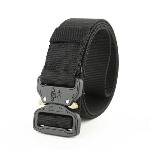Nylon Tactical Belts Military Survival Army Military Combat Quickly Unlock Belt