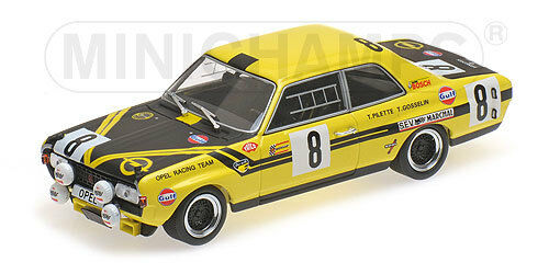 Opel Commodore to steinmetz PILETTE Gosselin Spa 1970  Minichamps 1 43 400704608  en stock