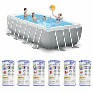 Details about Intex 16 Foot x 3.5 Foot Swimming Pool and Type A Filter Pump  Cartridge (6 Pack)