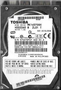 Toshiba mk1652gsx firmware 160 gb hard drive.