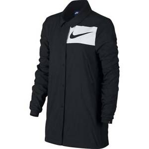 22816fd8f5 Nike Sportswear Women s Swoosh Snap Front Black Jacket (893029-010 ...