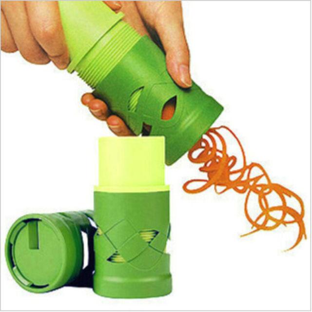 Gemüseschäler Spirale Gemüse Schneider Cutter Karotten Werkzeug Trichter NoE2JR