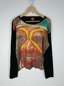 DESIGUAL-Maglia-Maniche-Lunghe-Polo-Shirt-Maglia-Tg-XL-Donna-Woman