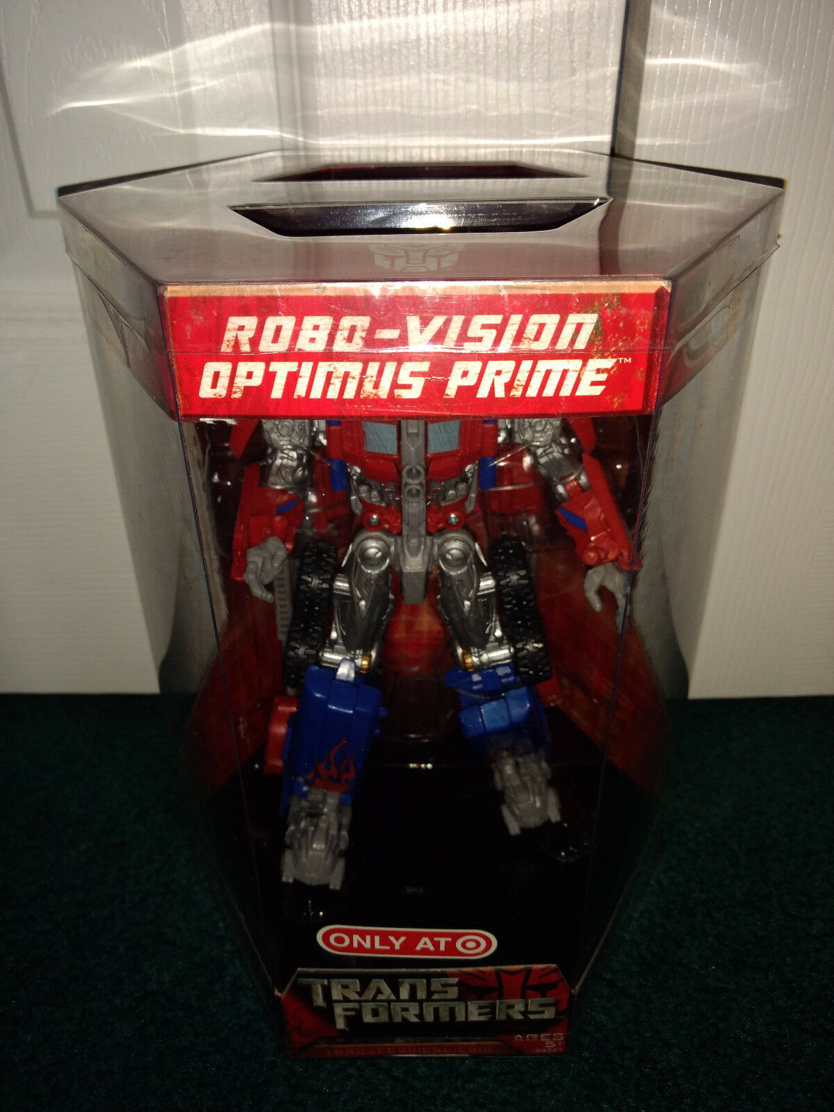 Robo-Vision Optimus Prime Transformers Movie 1 Hasbro 2007 MISP Target Exclusive