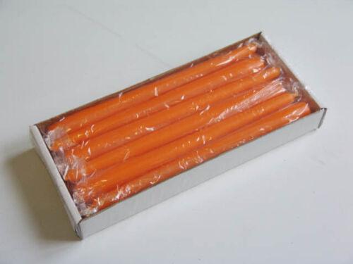 Spitzkerzen Tafelkerzen Leuchterkerze mandarin 250//23 mm RAL 12 Stück//Pack