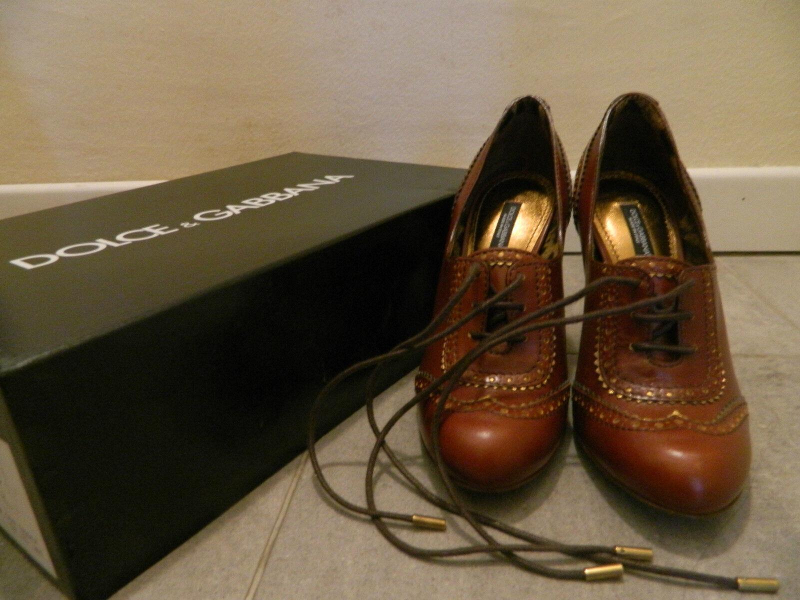 Scarpe stringate tacco francesine DOLCE DOLCE DOLCE & GABBANA 36 D&G heels laced   16551b