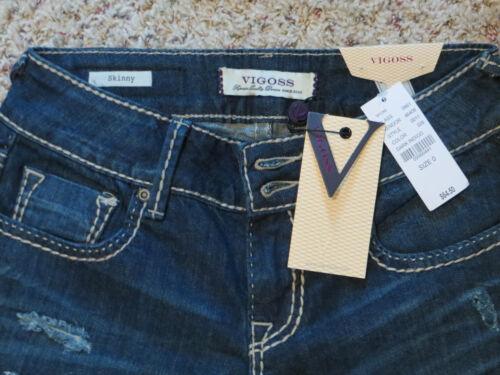 5 3 New VIGOSS SKINNY JEANS STYLE P7658A DARK INDIGO NWT $64.50 Sizes 0,1 /&7